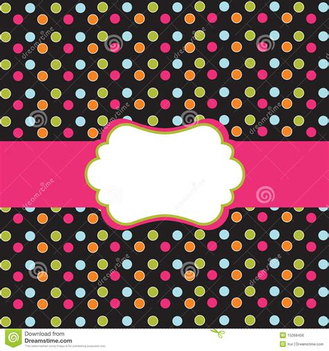 polka dot design polka dot design with frame royalty free stock image