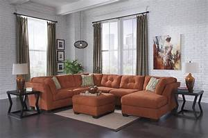 Delta city rust sectional sectional sofa sets for Sectional sofa sets online