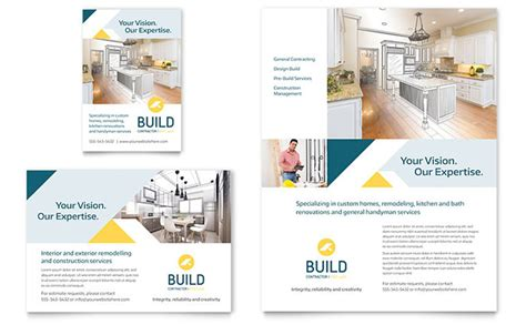 contractor flyer ad template design