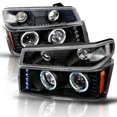 2005 chevy colorado lights chevy colorado 2004 2012 black halo projector headlights