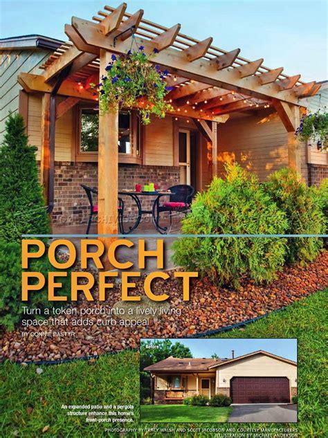 porch pergola plans woodarchivist