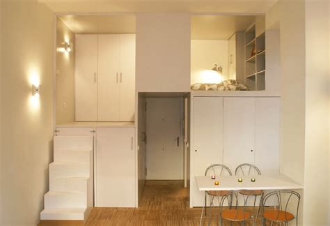 Tiny Apartments : Square Foot Micro Studio Loft Apartment With Space