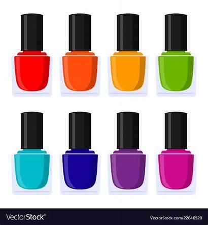 Nail Polish Cartoon Vector Multicolor