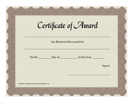 Award Template by 6 Certificate Award Template Bookletemplate Org