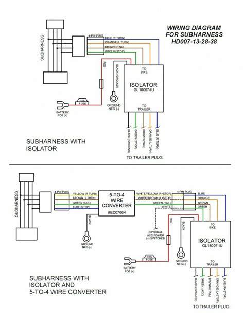 Eight Pin Molex Plug Play Motorcycle Trailer Wiring Sub