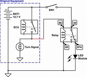 Relay - Normally On Circuit With Positive Trigger