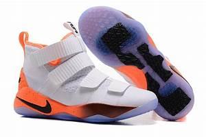 Nike LeBron Soldier 11 White Orange/Black For Sale – Nike ...