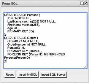 Use The Sql Plugin To Create An Entity Relationship Diagram