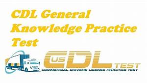 Cdl General Knowledge Practice Test  Part 1