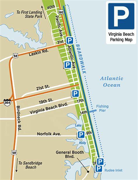virginia beach parking map virginia beach vacation guide