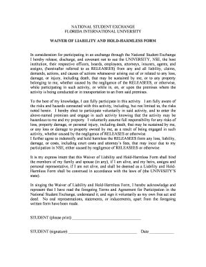 hold harmless agreement florida edit fill print