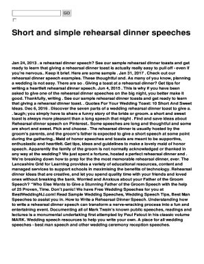 Printable short groom speech examples free - Fill Out & Download Online Blanks in Word & PDF