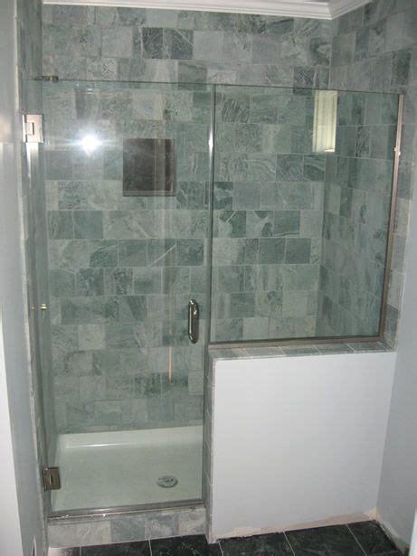 modern showers glass  wall heavy glass door