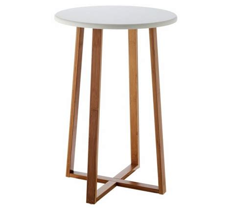 buy habitat drew tall side table bamboo  argoscouk