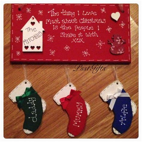personalised christmas plaque by psstgifts on etsy art