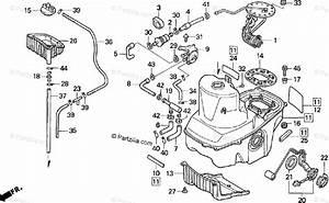 Honda Motorcycle 1998 Oem Parts Diagram For Fuel Tank