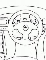 Wheel Steering Coloring Drawing Ferris Volante Printable Template Technical Sketch Getdrawings Carro Smart Coloringhome sketch template