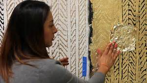 how to stencil textured walls with embossing rollers gold
