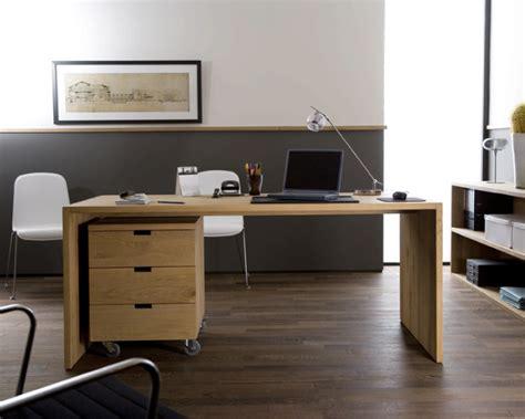 bureau en chene bureau en chêne massif contemporain ethnicraft