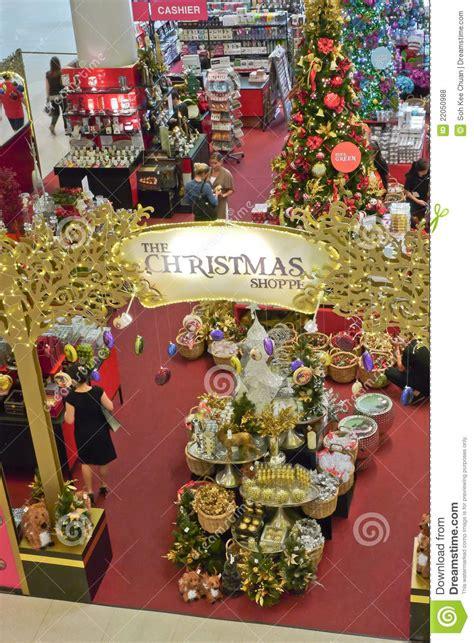 christmas shopping season editorial stock photo image