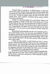 Easy Essay Topics For High School Students Essay Story About True Friendship College Essay Paper Format also Thesis Statements For Argumentative Essays Narrative Essay About Friendship Pay For Papers Written Story Essay  The Yellow Wallpaper Essay