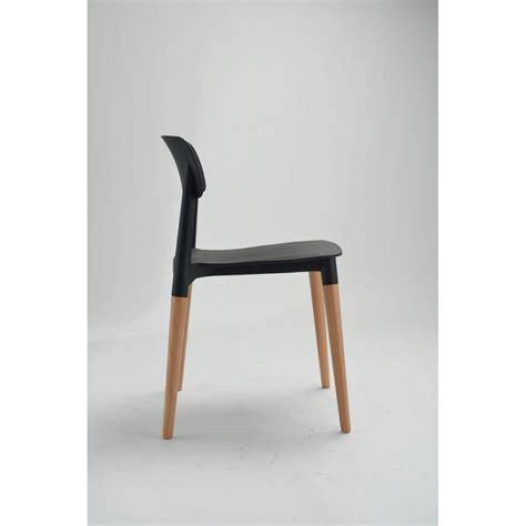 lot de 2 chaises chaise design scandinave blanche ou glamwood