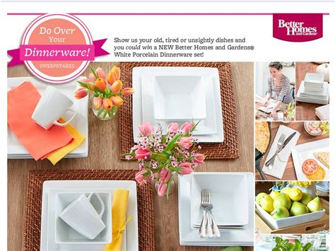 better homes and gardens sweepstakes better homes garden do your dinnerware instagram sweepstakes
