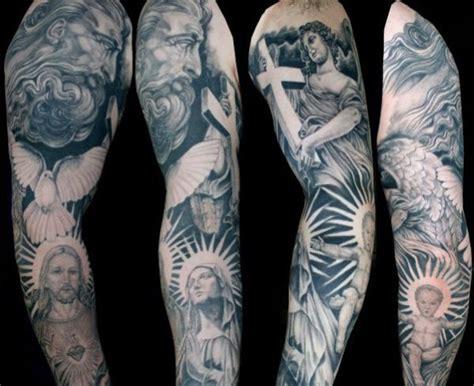 Religious Tattoos Arm Sleeves