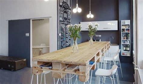 grande table cuisine table en palette 44 idées à découvrir photos