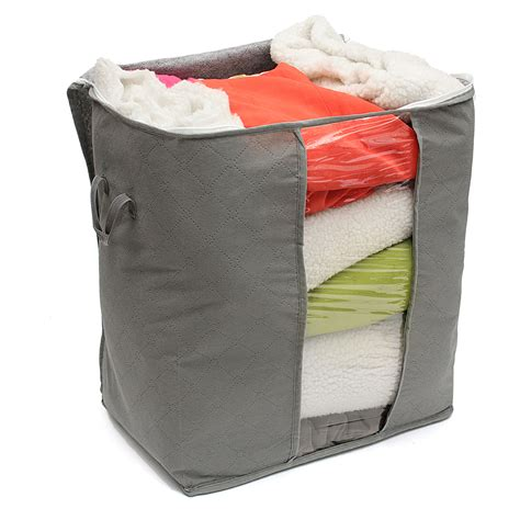 foldable bamboo charcoal storage box clothes blanket