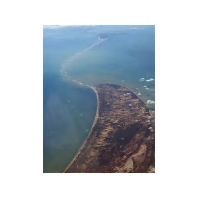 Panoramio - Photo of Adam's Bridge as seen from plane