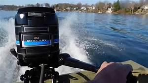 1980 20 Hp Mercury Outboard Motor On A 14 U0026 39  G3 Jon Boat 28