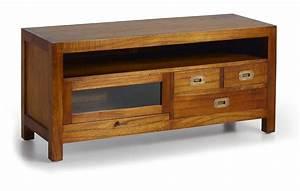 Petit Meuble Tele : petit meuble t l vision en bois de mindy 110 cm de long collection mawan ~ Teatrodelosmanantiales.com Idées de Décoration