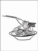 Spaghetti Coloring Pages Printable Drawing Print 1coloring Line Getcolorings Template Penciling Eat Those Children sketch template