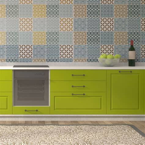 Geometric Tile Stencil Set for Wall decor Kitchen