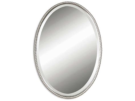 Uttermost Sherise 22 X 32 Brushed Nickel Oval Wall Mirror