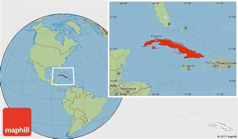 cubas location   map