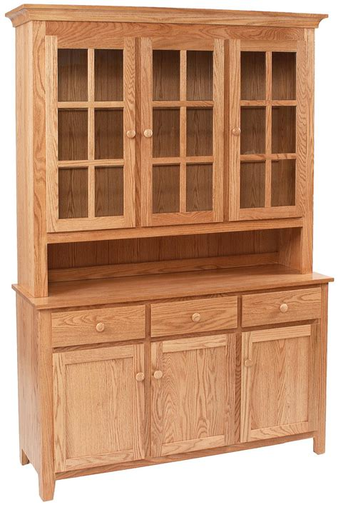 kitchen cabinets outlet shaker buffet w hutch by daniel s amish wolf and 3149