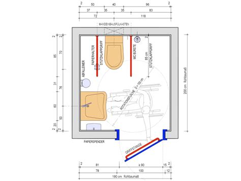behinderten wc planung behinderten wc ma 223 e sanit 228 r verbindung