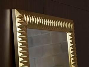 Grand Miroir Design : grand miroir mural finition or miroir d coration ~ Teatrodelosmanantiales.com Idées de Décoration