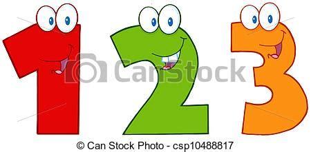 clipart numeri divertente uno tre numeri divertente tre uno numeri