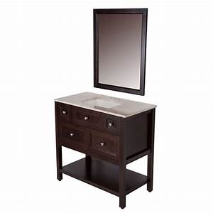 glacier bay ashland 36 in w x 19 in d bath vanity in With 36 x 19 bathroom vanity
