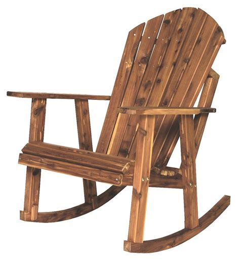 cedar adirondack rocking chair from dutchcrafters