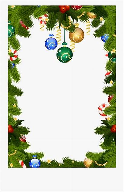 Borders Christmas Clipart Holiday Frame Frames Background