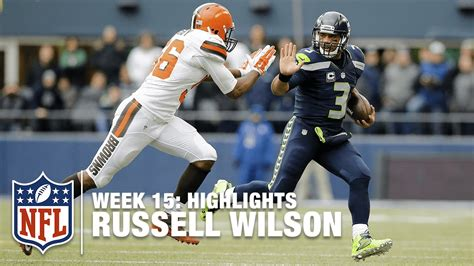 russell wilson highlights week  browns  seahawks