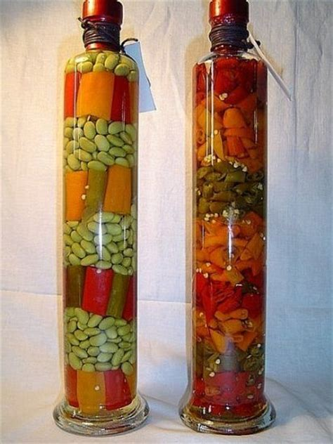 decorative bottle  vegetables   kitchen decor