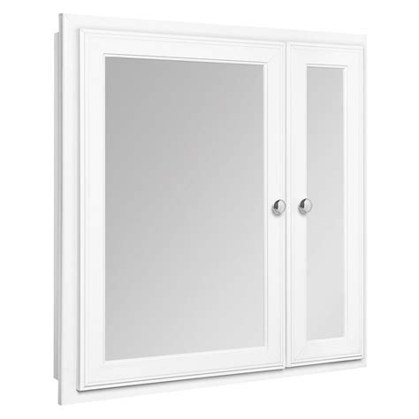 glacier bay bathroom cabinets glacier bay 24 1 2 in w x 25 3 4 in h framed recessed bi