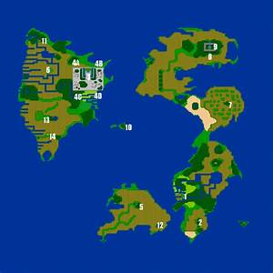 Final Fantasy III World Map