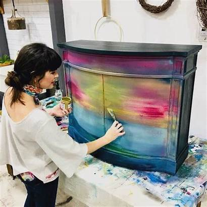 Furniture Funky Painting Painted Paint