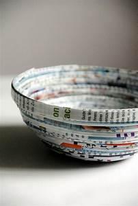 Papier Selber Machen : bastelideen mit papier papierschale selbermachen ~ Lizthompson.info Haus und Dekorationen